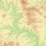 Gekleurde Topografische kaart Stock Afbeeldingen