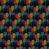Gekleurde transparante glaswerk vectorillustratie royalty-vrije illustratie