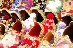 Gekleurde Turkse schoenen Royalty-vrije Stock Foto's