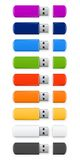 Gekleurde USB-flits Royalty-vrije Stock Afbeelding