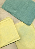 Gekleurde van het Canvas van het Linnen Textuur Als achtergrond Royalty-vrije Stock Fotografie