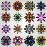 Gekleurde vector de illustratieinzameling van het mandalasymbool stock illustratie
