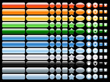 Gekleurde vector en glanzende Webknopen Stock Foto