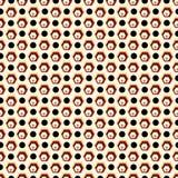Gekleurde veelhoeken en zwarte cirkels op een licht naadloos patroon als achtergrond royalty-vrije illustratie
