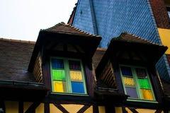 Gekleurde vensters Stock Foto