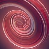 Gekleurde verdraaide vorm De computer produceerde abstracte geometrische 3D teruggeeft illustratie Stock Foto