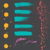 Gekleurde verf Stock Afbeeldingen