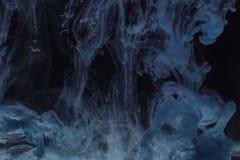 Gekleurde verf in water abstract art. als achtergrond stock afbeelding
