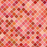 Gekleurde vierkante patroonachtergrond - geometrische vectorillustratie van diagonale vierkanten in rode tonen Royalty-vrije Stock Afbeelding