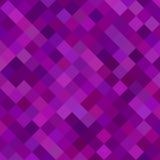 Gekleurde vierkante patroonachtergrond - vectorillustratie van diagonale vierkanten in purpere tonen Stock Foto