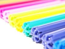 Gekleurde viltpennen Royalty-vrije Stock Afbeeldingen