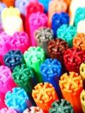 Gekleurde viltpennen Stock Foto