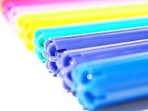 Gekleurde viltpennen Stock Afbeelding