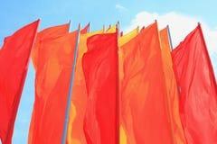 Gekleurde vlaggen. Stock Afbeeldingen