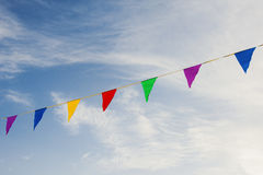 Gekleurde Vlaggen Stock Foto's