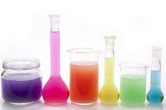 Gekleurde vloeistoffen Royalty-vrije Stock Foto