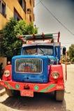 Gekleurde vrachtwagen Stock Afbeelding