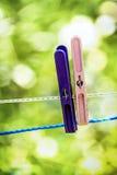 Gekleurde Wasknijpers Royalty-vrije Stock Foto's