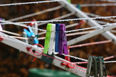 Gekleurde Wasknijpers Royalty-vrije Stock Foto