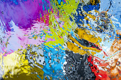 Gekleurde waterspiegel Royalty-vrije Stock Fotografie