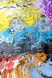 Gekleurde waterspiegel Royalty-vrije Stock Foto