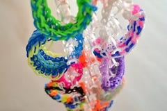 Gekleurde weefgetouwbanden Royalty-vrije Stock Afbeelding