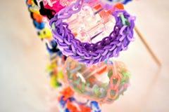 Gekleurde weefgetouwbanden Stock Foto's