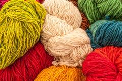 Gekleurde Wol Royalty-vrije Stock Afbeelding