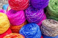 Gekleurde wol Stock Foto's