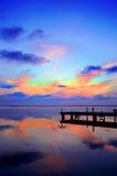 Gekleurde wolken royalty-vrije stock afbeelding