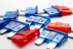 Gekleurde zekeringen Stock Fotografie