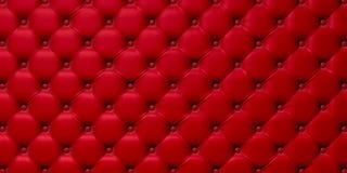 Geknöpft auf der roten Beschaffenheit 3d Stockbilder