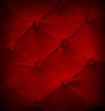 Geknöpft auf rotem Beschaffenheitssofa-Wiederholungshintergrund Stockbild