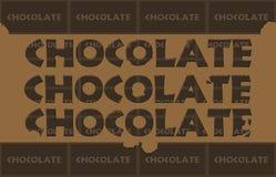 Geknaagde aan Chocolade royalty-vrije illustratie