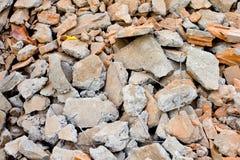 Geknackt vom Zementboden Lizenzfreie Stockfotos