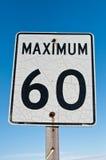 Geknacktes und verrostetes Zeichen des Maximum-60 Lizenzfreie Stockbilder