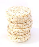Geknald rijstbrood stock foto