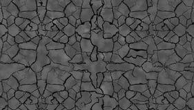 Geknapperde Zwarte Tetxure voor grond of muur 3d illustratie Royalty-vrije Stock Fotografie