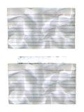 Geknitterte Indexkarten Stockbilder