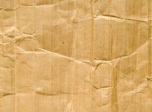 Geknitterter Papphintergrund Stockfoto