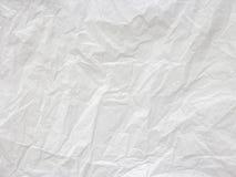 Geknitterter Weißbuchbeschaffenheitshintergrund Element für Kopienraum Stockbild