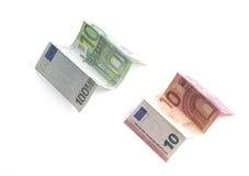 Geknittertes Papiergeld Euro Stockfotografie