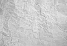 Geknittertes Weißbuch Stockfoto