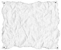 Geknittertes Weißbuch mit Nägeln vektor abbildung