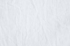 Geknittertes weißes Baumwollsegeltuchgewebe maserte Hintergrund, wallpap Lizenzfreie Stockfotos