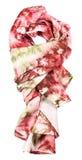 Geknoopte zijdesjaal met abstract rood ornament Royalty-vrije Stock Fotografie