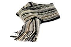 Geknoteter Schal getrennt über Weiß Lizenzfreie Stockbilder