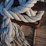 Geknotetes Seil Cape Cods Werft lizenzfreie stockbilder