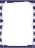 Geknotetes Seil mit Anker-Rahmen Stockfotografie