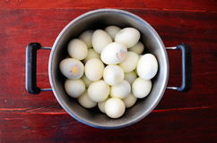 Gekochte Eier Stockbild